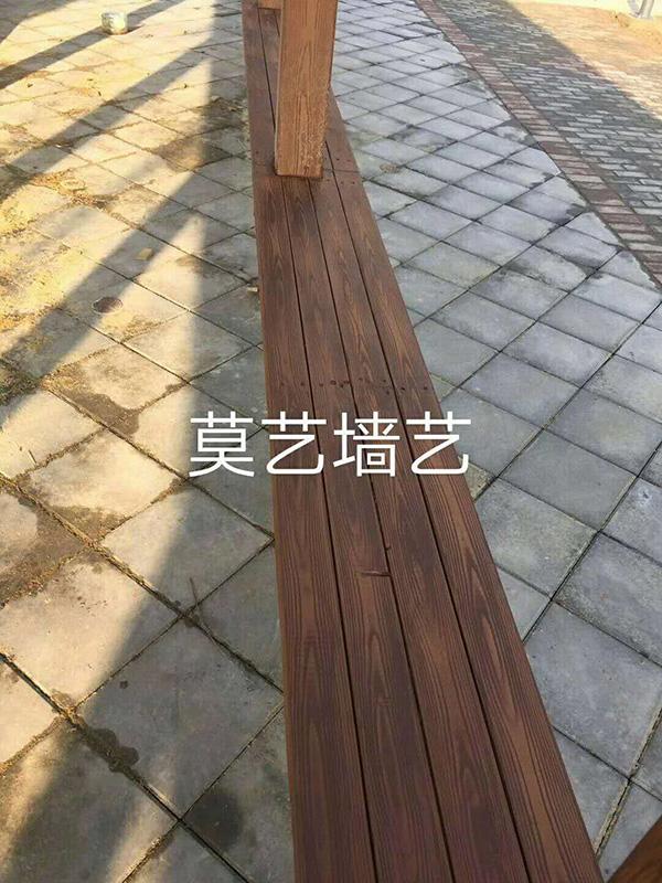 针对木质纹理旧漆的表面解决