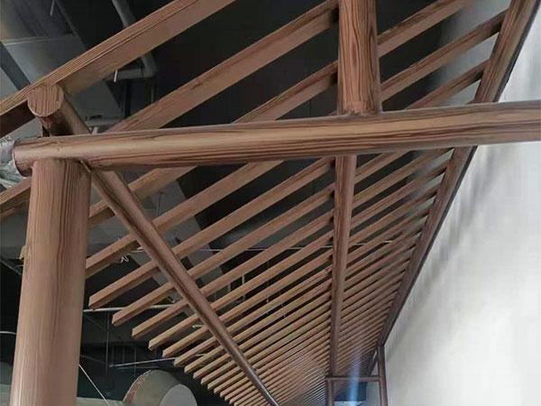 钢结构木纹漆现场