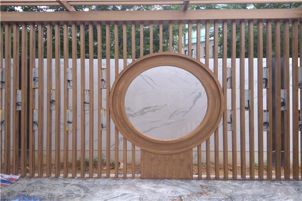月洞门廊架做木纹漆效果怎么样?