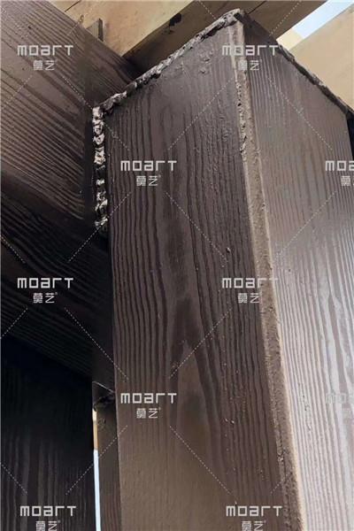 小区廊架木纹漆